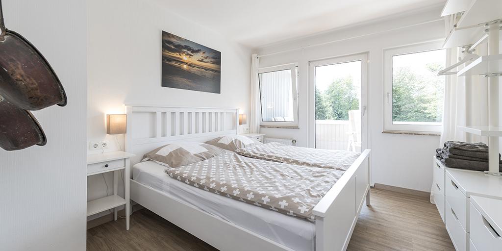 Schlafzimmer Ferienwohnung Diekgraf